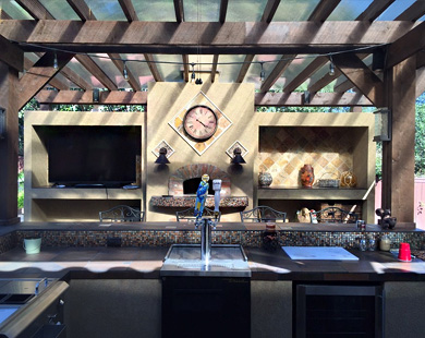 outdoor kitchen installed in northern Los Angeles