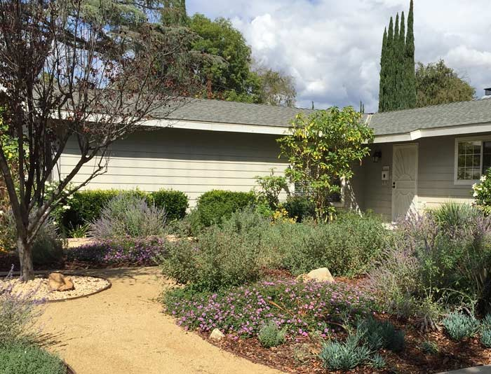 a unique landscape in Agoura Hills, CA created in order to boost a home's value