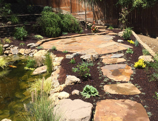 a beautiful hardscape done by our pros